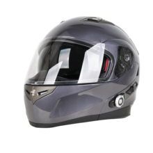 2018 NEW Design motorcycle helmet bluetooth BM2-902 for motorcycle with DOT certification and built -in intercom Gray