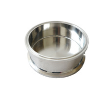 "Stainless Steel 6""x2"" Splatter Platter Tri Clamp Closed Spool with bottom base"