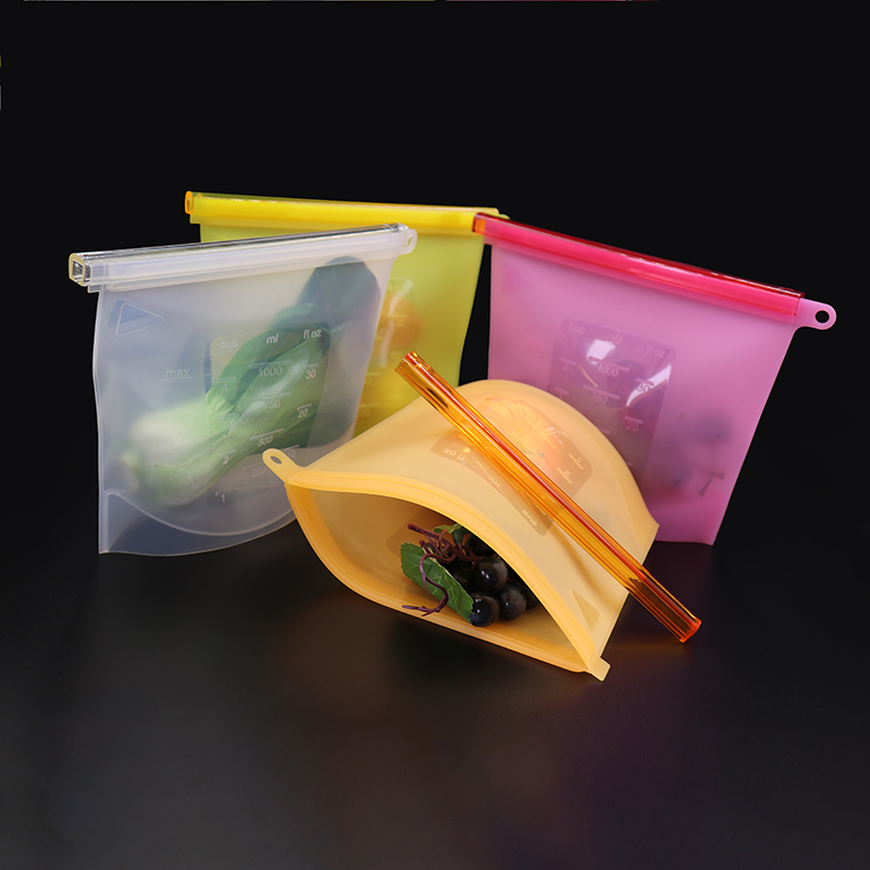 Hot Selling Food Grade Custom Reusable Silicone Fresh Food Storage Vacuum Frozen Bag