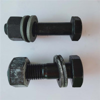 high strength class 10.9 12.9 black finish hex bolt for steel structural engineering