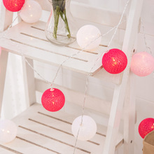 Christmas hot salegood quality best price holiday room decoration outdoor christmas colorful cotton ball led string light