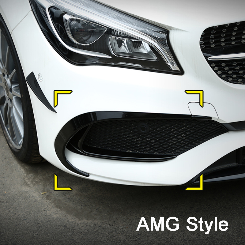 <strong>W117</strong> CLA AMG 45 Front Bumper Splitter Bumper Canards for Mercedes Benz CLA <strong>W117</strong> AMG 45 2016 2017 2018 2019