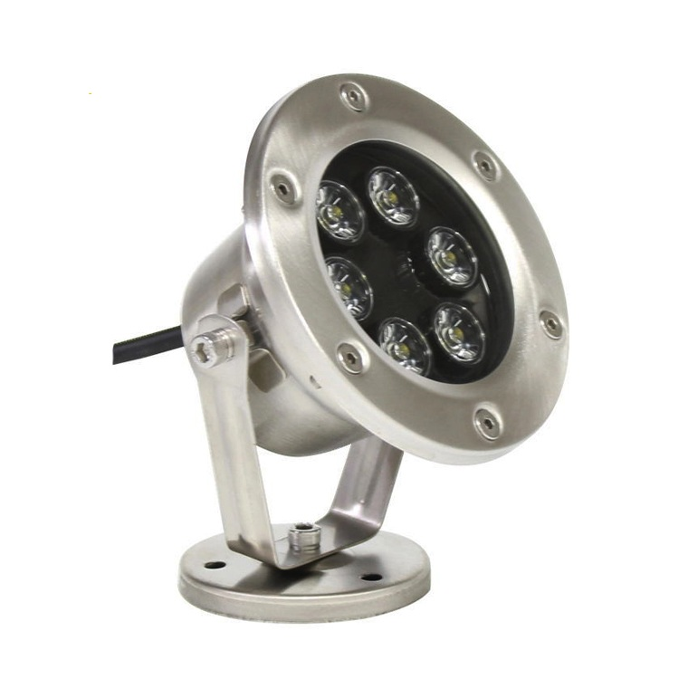 Quality 304 Stainless Steel 12V 6*3W RGB Epister 3in1 DMX led underwater fountain light