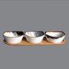 bowl with wood tray