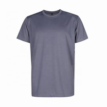Well performed casual O-neck dark grey dyed plain polyester blank t shirt