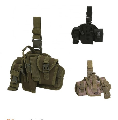 Manufacturer Military Adjustable Police Molle Tactical Drop Leg Holster Pistol Holster Pouch Bag With Excellent Quality