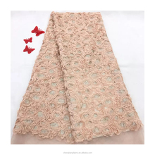 Very beautiful 100 <strong>polyester</strong> sewed on chiffon rosette sequin chiffon fabric