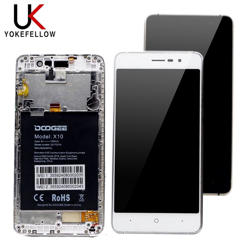 LCD Display Screen For Doogee <strong>X10</strong> LCD Display Screen With <strong>Touch</strong> Panel Digitizer Sensor With Frame