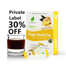 Pure Ginger Tea Instant tea Herbal chai Tea Warm Instant Honeyed Ginger Benefits Drink authentea customized private label