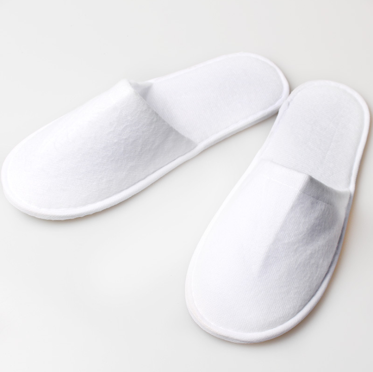 2019 Best selling cheap poly terry hotel slippers