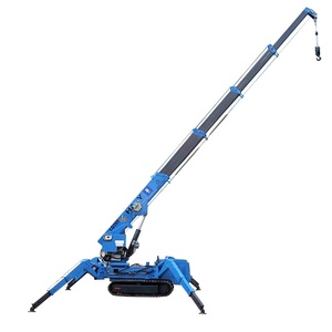crane leasing service machine hydraulic spider crane supplier