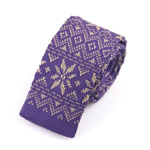 Latest design Hot selling floral 100% polyester knitted tie for men #12