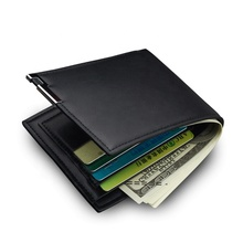New Fashion Card Holder Short Wallet Iron Edge Youth Cross PU Leather Wallet For <strong>Men</strong>