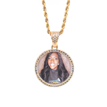 Fashion Photo Locket Zircon Personalized Customized Picture Necklace