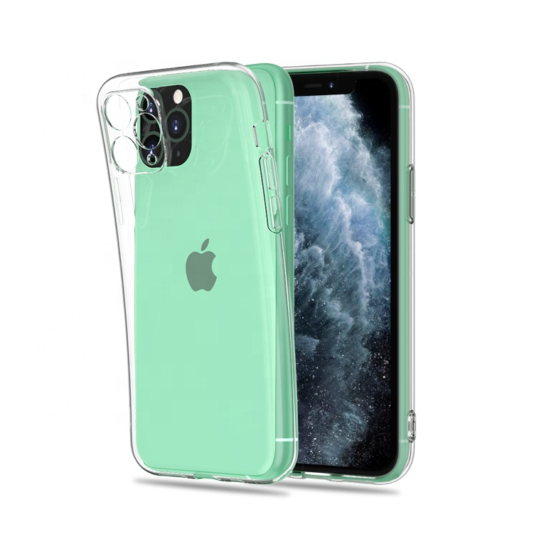 Mobile Cover Supplier Clear Transparent 2.0mm Thickness TPU Mobail Phone <strong>Case</strong> for Apple iPhone 11 Pro Max XS XR X 8 Plus 7 6s SE