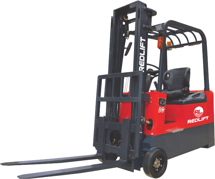 UP To 3999 USD  REDLIFT Economic 1-2t counter balance electric empilhadeira three   wheel electric forklift Montacargas