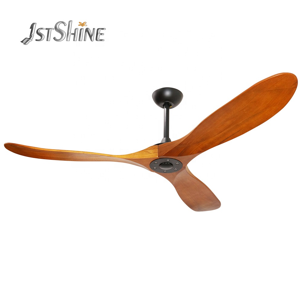 1stshine modern decorative dc motor luxury wooden blade bldc inverter fancy ceiling fans with remote control