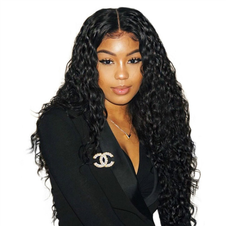 New Selling Deep Curly Full Lace Wig Human Black Synthetic Wigs Hair Wigs For Black Women