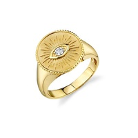 simple gold design custom evil eye signet ring jewelry silver 925
