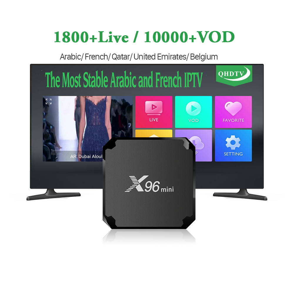 X96 <strong>mini</strong> Arabic IPTV Receiver Box Android 7.1 2GB S905W Quad Core with QHDTV IPTV Subscription 1 Year