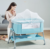 6 Heights Adjustable Baby Bassinet For Bed