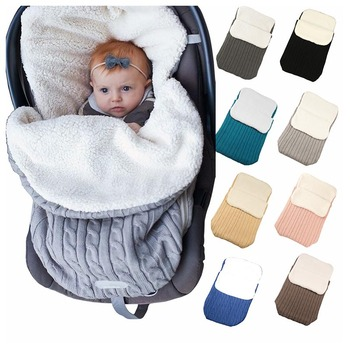 Soft and Comfortable Warm Newborn Thickening Lambskin Baby Sleeping Bag