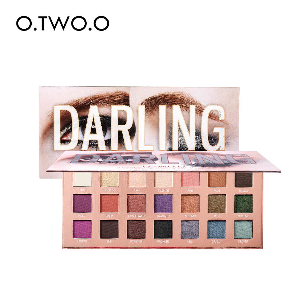 O.TWO.O <strong>Cosmetics</strong> High Quality 21 Colors Eyeshadow Palette Stong Pigmentation Darling Eyeshadow