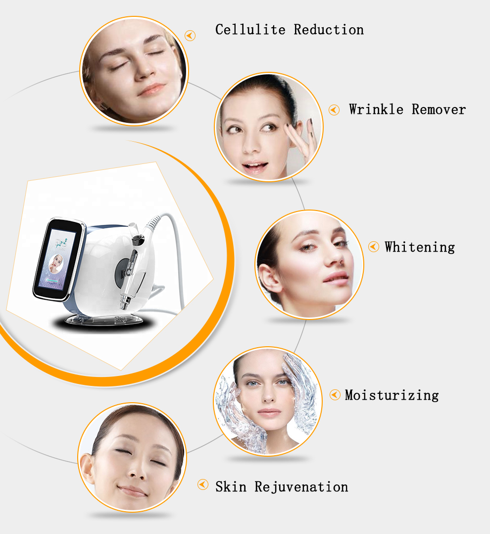 2020 पोर्टेबल कोई सुई Electroporation के Mesotherapy