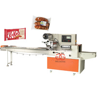 Best Price Pillow Type Flow Pasta Wrap Equipment Automatic Bread Packing Machine Cheese Granola Chocolate Bar Packaging Machine