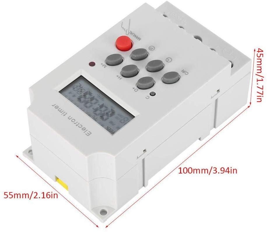 KG316T 16A 110V Relay LCD Digital Weekly Programmable Timer Switch
