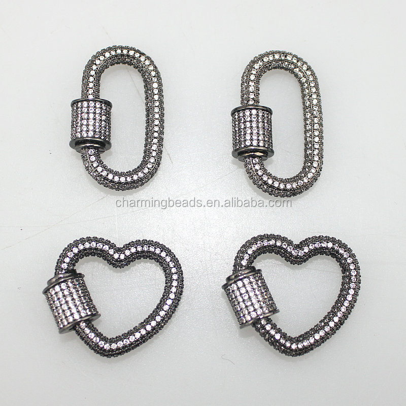 CH-LHP0271 Fashion cz clasp,cz clasp charm jewelry,diy necklace jewelry accessories