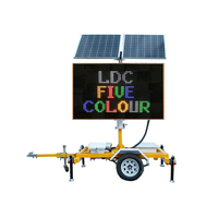 Trailer Mounted Solar Video Traffic Variable Message Boards Mobile 5 Colour vms