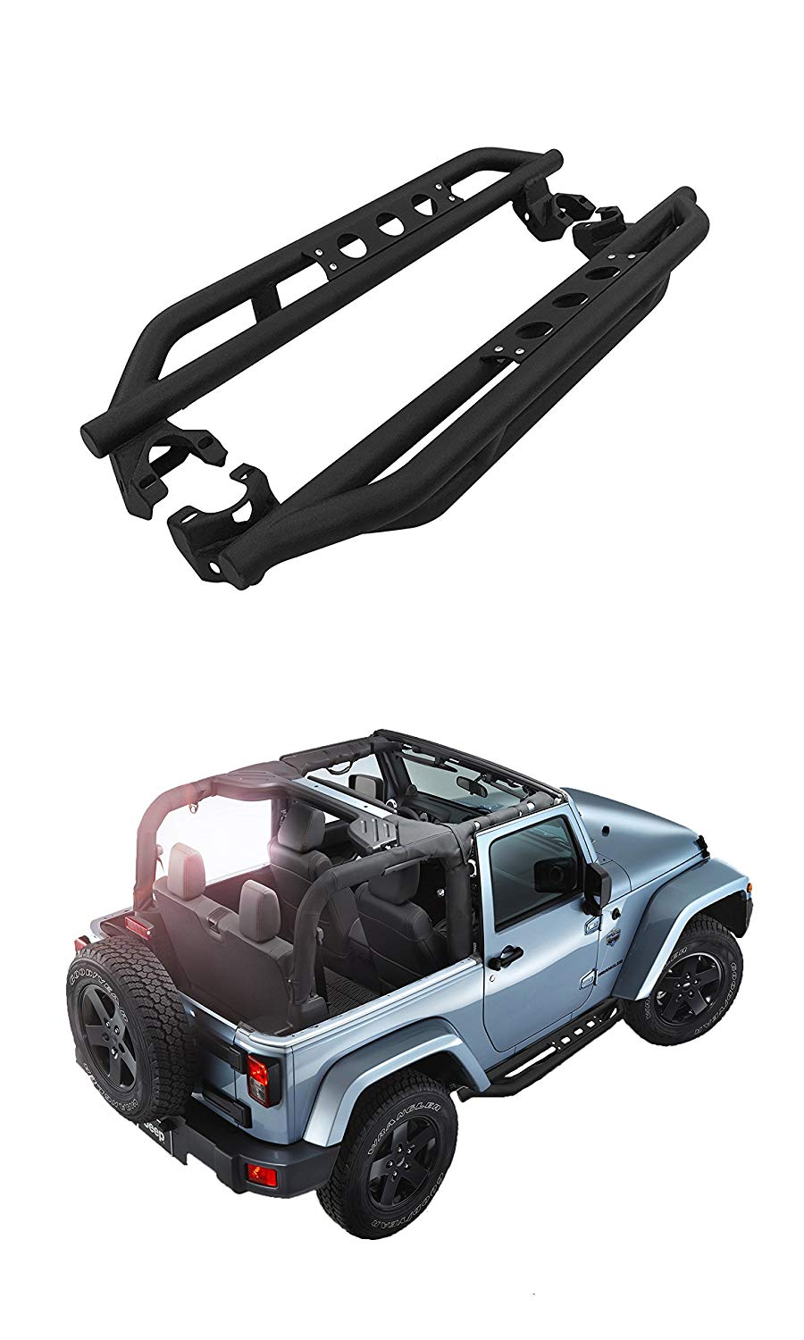 Side Steps for Jeep Wrangler JK 2 doors
