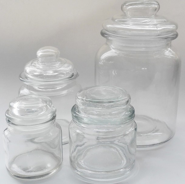170ml food grade glass storage jar with glass top for storing food herbs