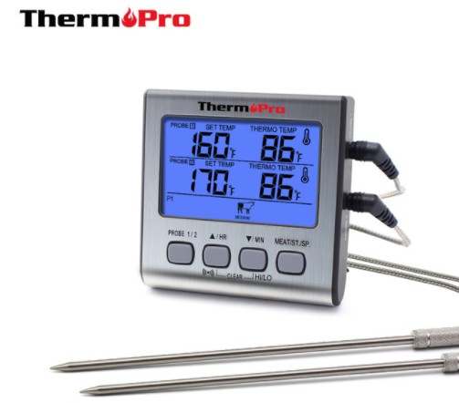 Thermopro TP17 Digital Calibration Grill Meat Food Thermometer with <strong>Timer</strong>