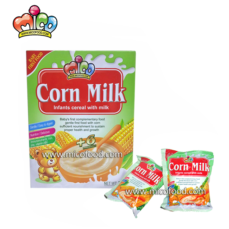 baby food infant cereal rice with corn milk