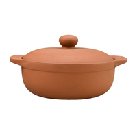 Wholesale ceramic clay cooking pot with handle and lid