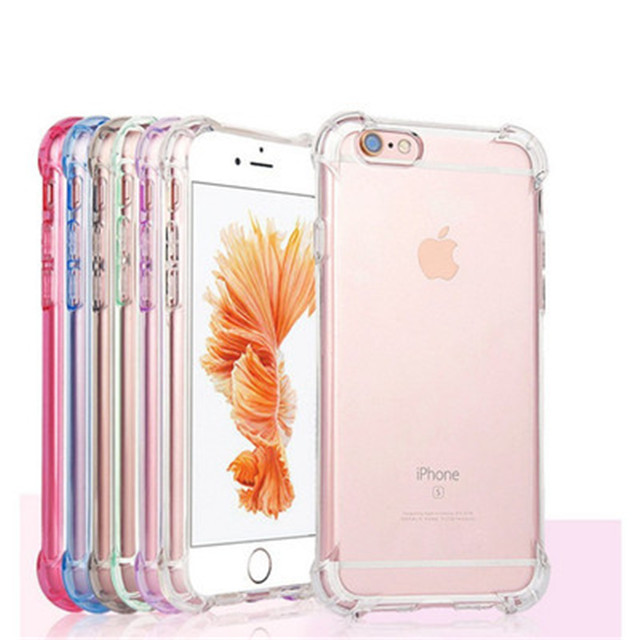 1.5mm Colorful Transparent Air Cushion Bumper Soft Clear TPU Case For iPhone 11 Pro Max X Xr Xs Max 8 7 Plus S8 S9 S10 Note 10 <strong>P</strong>
