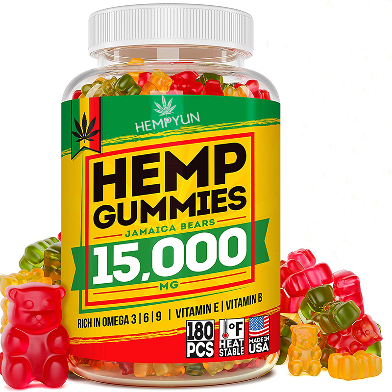 Best Selling Pure Hemp Gummies Organic Full Spectrum CBD Hemp Extract Hemp Oil Gummy Bears