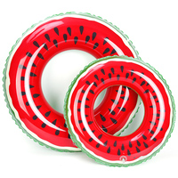 Eco-friendly PVC Watermelon Swim Ring Inflatable Tube Pool swimming ring