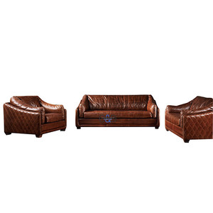 italy antique royal style vintage living room leather sofa sets