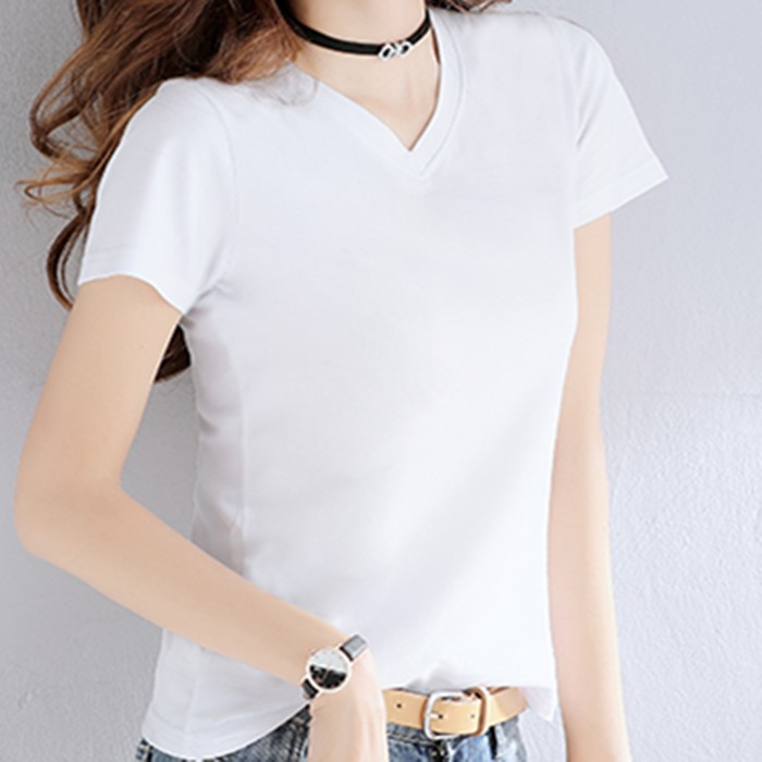 Custom Logo Design Tshirt Comfortable Cotton Simple White Short Sleeve Shirts O-Neck High Quality Cheap Price Tee