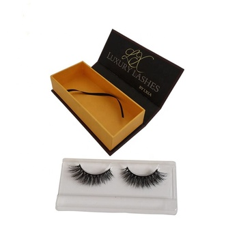 Private Label False Eyelashes Cardboard Magnetic Mink Custom Eyelash Packaging Box