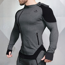 Compression shorts Workout clothing OEM <strong>sports</strong> men's hoodies gym wear men
