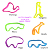Wholesale Fun TPR Soft Buddy bandz Animal Shaped Silicone Silly Bands Rubber Band Bracelets Party Favors Decoration