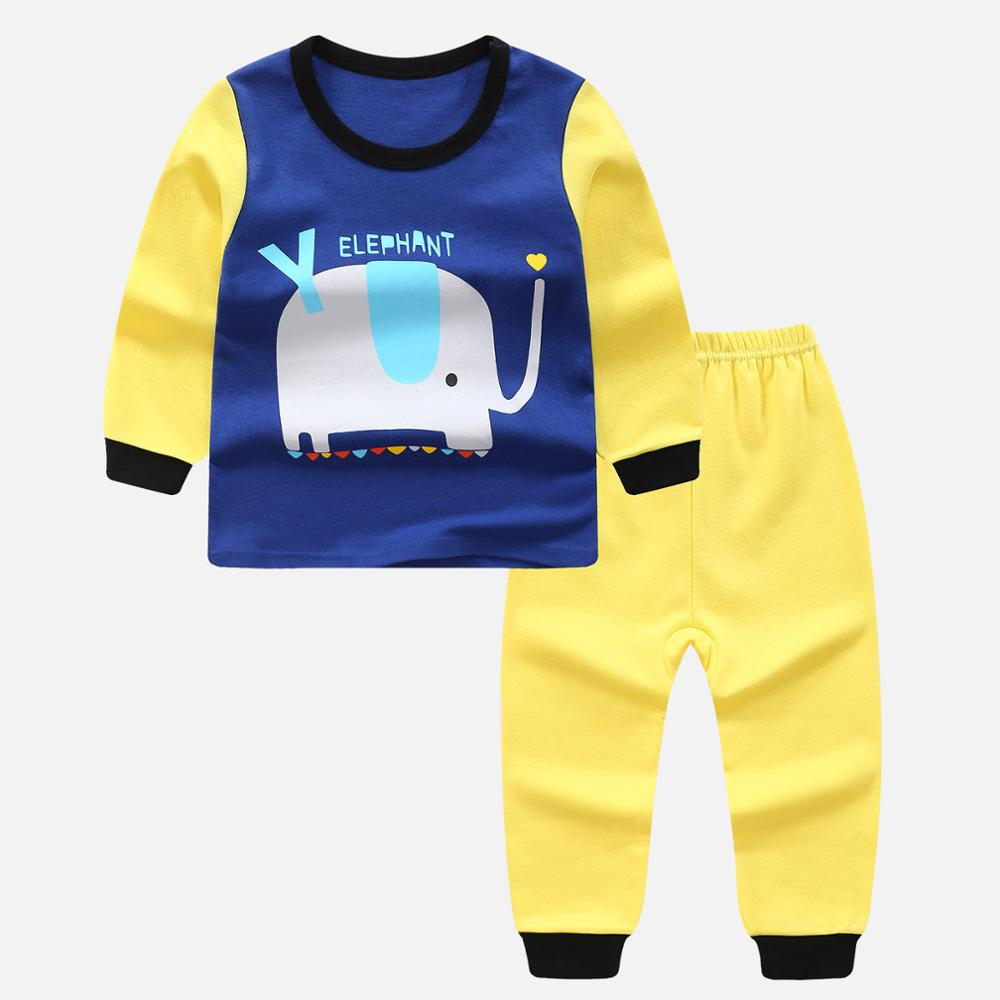high quality kids Pajamas Suit Sleepwear Long Sleeve Children Cotton Clothes