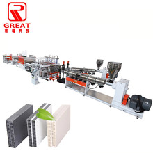 Lower price PP Hollow Sheet Plastic Building Formwork sheet making machine <strong>line</strong>