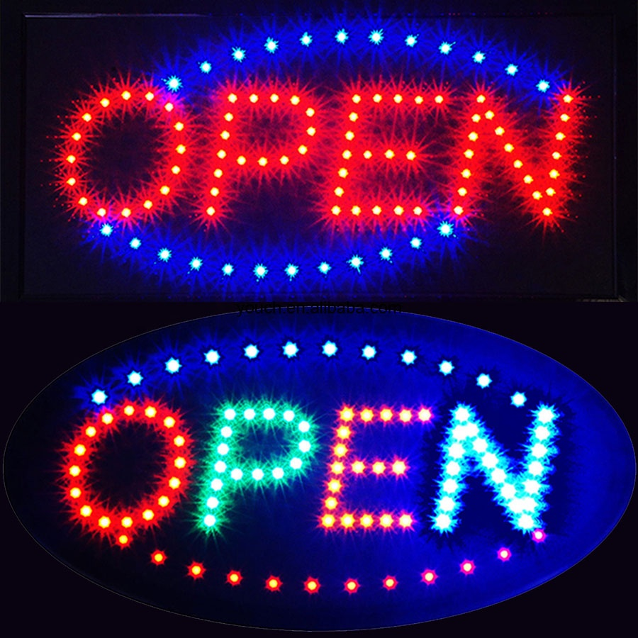 Factory wholesale price acrylic led open <strong>sign</strong>