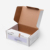 Recycle Disposable Hard Cardboard Flat Folding Corrugated Paper Carton Packaging Boxes Custom Logo