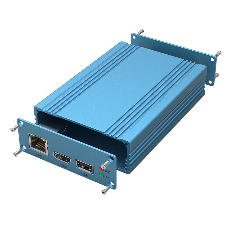GOF <strong>J22</strong> 82.8mm*28.8mm Customized Anodized Blue Brushed Aluminum 6063 Switch Networking Devices Box